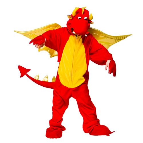 Childrens Fire Breathing Dragon Costume for Fireman Firefighter Fire Fancy Dress